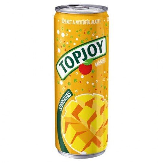 Topjoy mangó ízű szénsavas üdítőital 330 ml