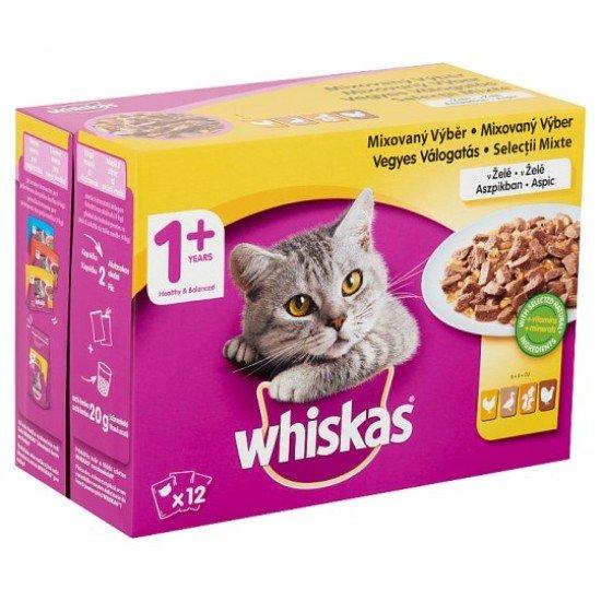 Whiskas szárnyas válogatás macskaeledel 12x100 g