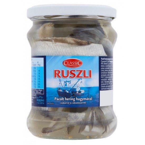 Classic Ruszli pácolt hering hagymával 500 g