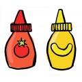 Ketchup, mayonnaise, mustard