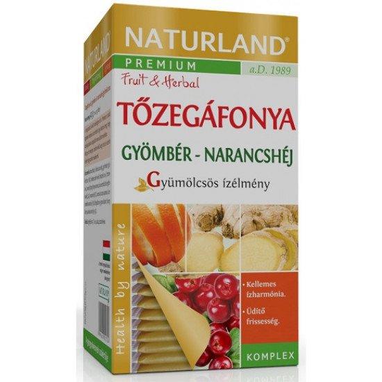 Naturland Herbal tőzegáfonya-gyömbér-narancshéj tea 40 g