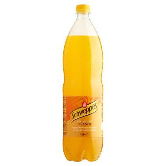 Schweppes narancs ízű szénsavas üdítőital 1,5 L