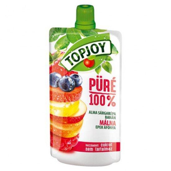 Topjoy 100% alma-sárgarépa-banán-málna-eper-áfonya gyümölcspüré 120 g