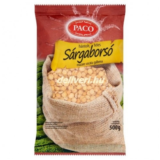 Paco hulled yellow peas 500 g