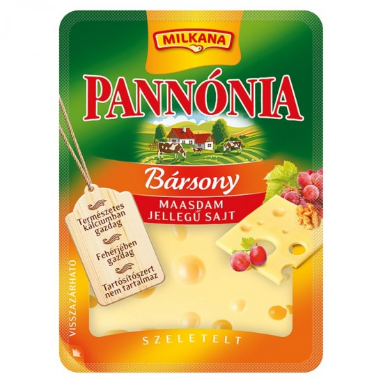 Pannonia Bársony maasdam sliced cheese 125 g