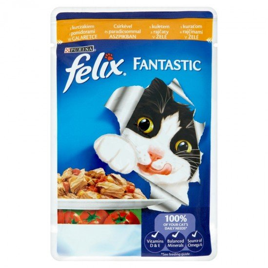 Felix Fantastic macskaeledel csirkével és paradicsommal 100 g