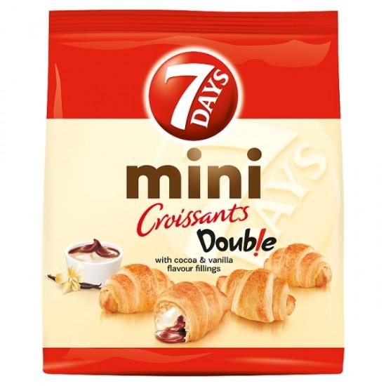 7 Days Doub! E Max mini croissant with cocoa and vanilla flavor filling 200 g
