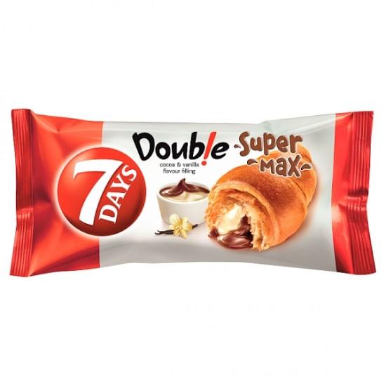 7 Days Super Max kakaós és vaníliás krémmel töltött croissant 110 g