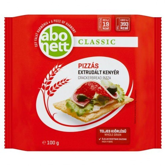 Abonett pizza with extruded bread 100 g