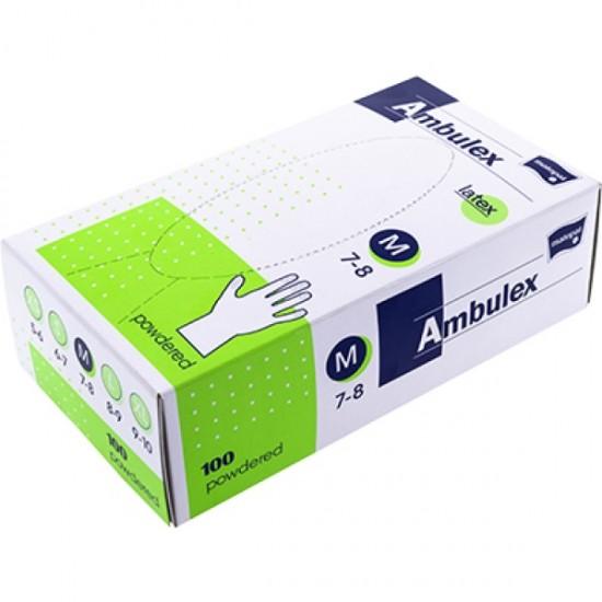 Ambulex S-es latex kesztyű 100 db