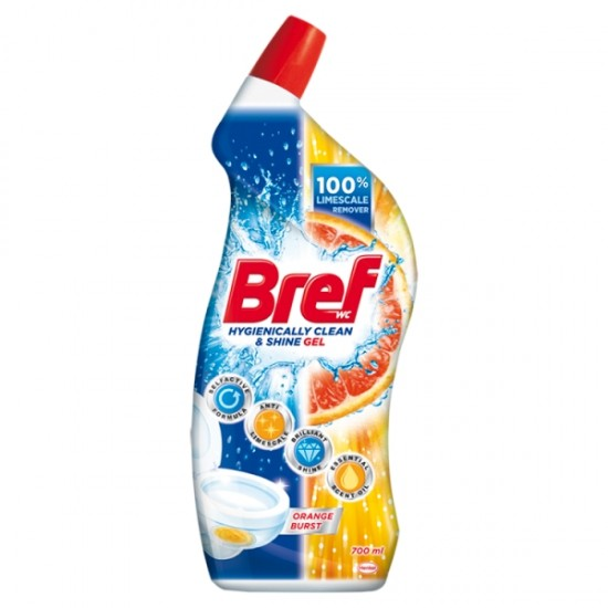 Bref Hygienically Clean Orange Burst wc tisztító gél 700 ml