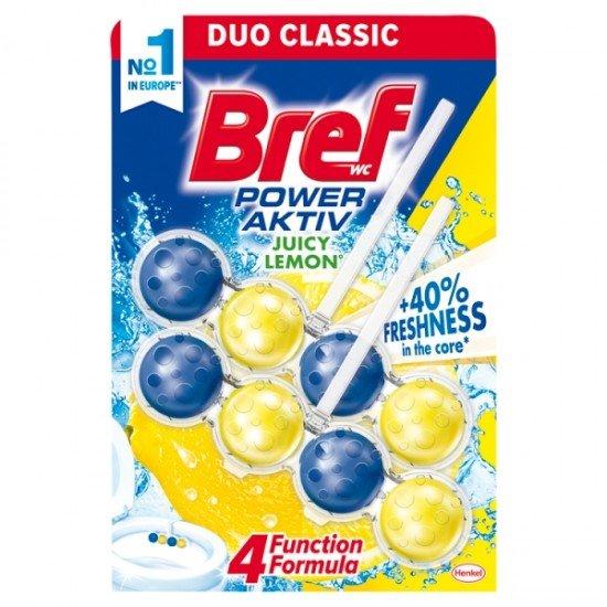 Bref Duo-Classic Power Active Juicy Lemon wc freshener 2x50 g