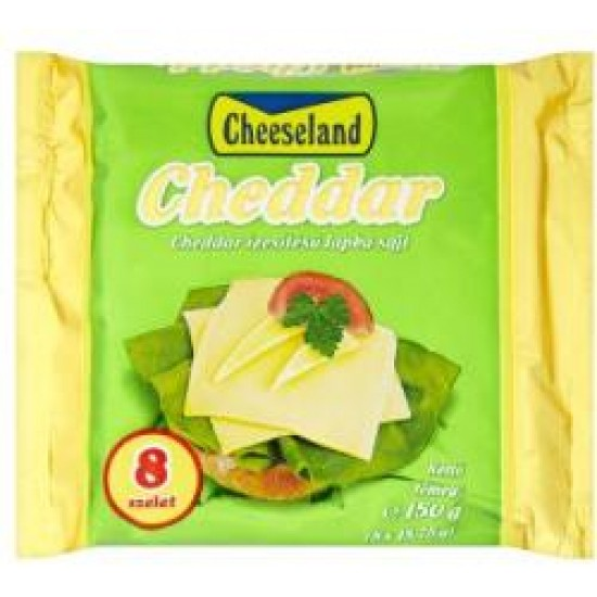 Cheeseland cheddar lapkasajt 150 g