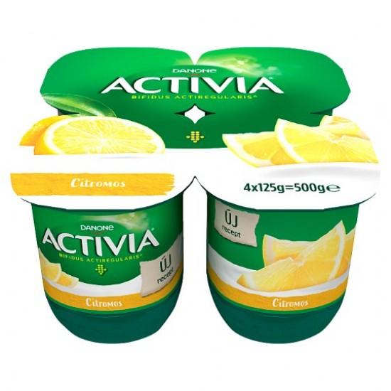 Danone Activia lemon yogurt 4x125g