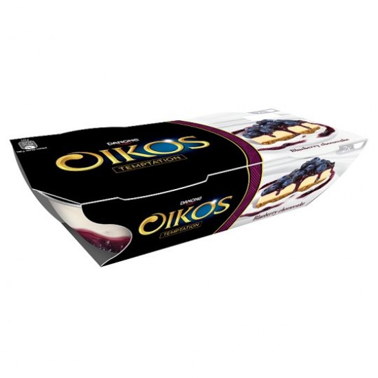 Danone Oikos Greek yoghurt áfonya-sajttorta ízű öntettel 2x110 g