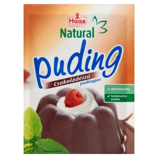 Haas gluténmentes csokoládé ízű pudingpor 40 g