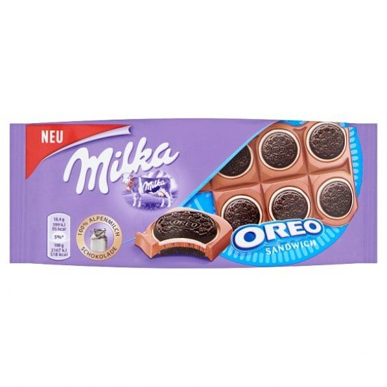 Milka Oreo Sandwich táblacsoki 92 g