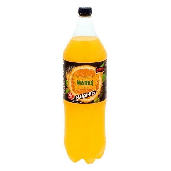 Márka Zero narancs ízű üdítőital 2 L