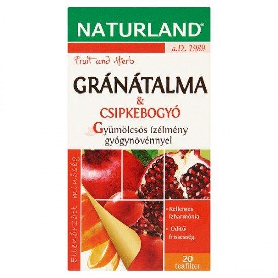 Naturland Herbal pomegranate-rosehip fruit tea bags 40 g