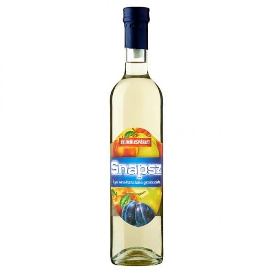 Snapsz ágyas alma-körte-szilva gyümölcspárlat 37,5% 0,5 L