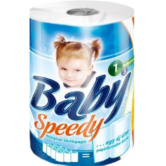 Baby Speedy 3 layer 1 roll 100 sheet paper towel