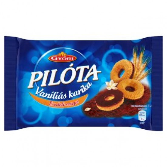 Győri Pilóta vanilla ring with dark chocolate 150 g