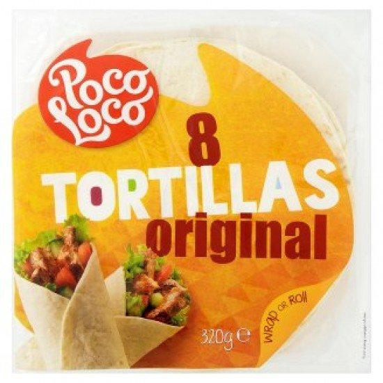 Poco Loco tortilla 8 db 320 g