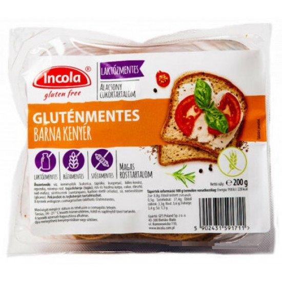 Incola gluténmentes barna kenyér 200 g