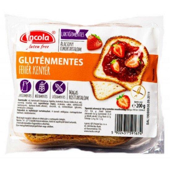 Incola gluténmentes fehér kenyér 200 g