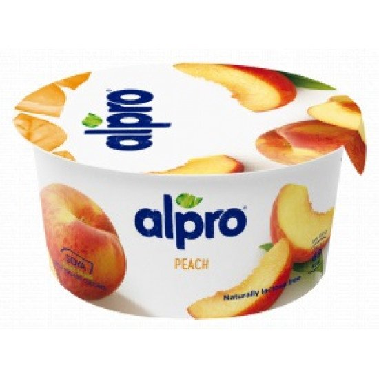 Alpro szójagurt joghurt kultúrával őszibarack ízben 150 g