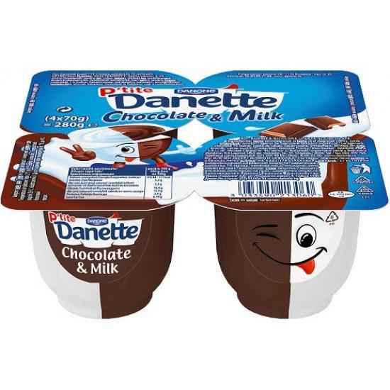 Danone Danette Choco & Milk puding 4x70 g
