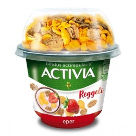 Danone Activia breakfast with strawberry yoghurt with wheat and maize cake 168 g